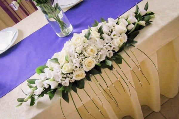 Свадебная композиция на столы своими руками
