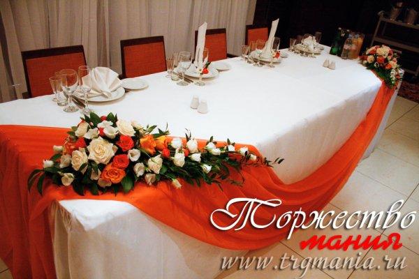 Свадебное оформление стола своими руками