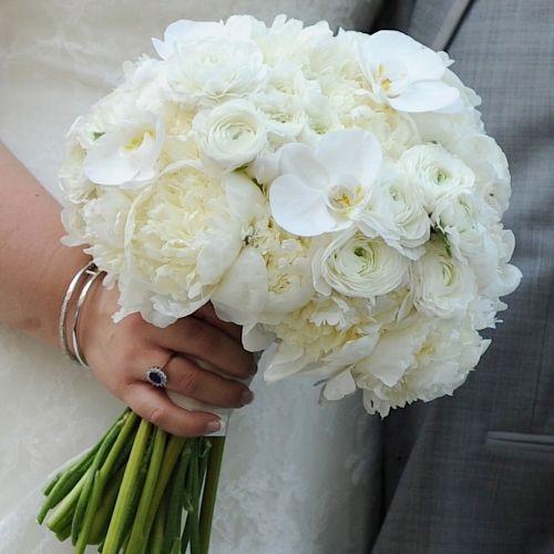 Свадебный белый букет фото