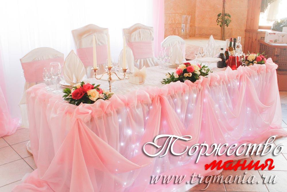 Украшение зала на свадьбу из цветов фото